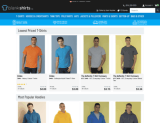 blanktshirts.ca screenshot