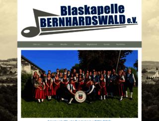 blaskapelle-bernhardswald.de screenshot