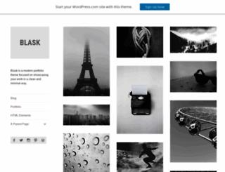 blaskdemo.wordpress.com screenshot
