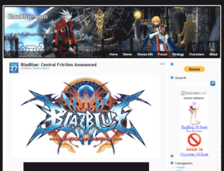 blazblue.com screenshot