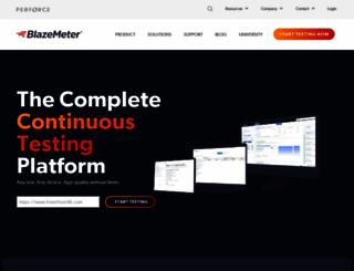 blazemeter.com screenshot