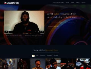 blazetrak.com screenshot