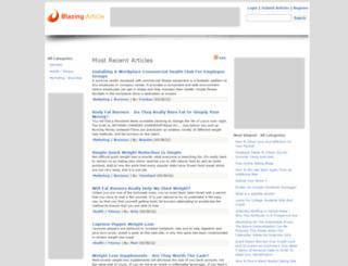 blazingarticle.com screenshot