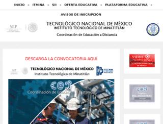 blearning.itmina.edu.mx screenshot