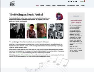 bledingtonmusicfestival.co.uk screenshot