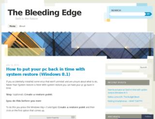 bleedingedge1.wordpress.com screenshot