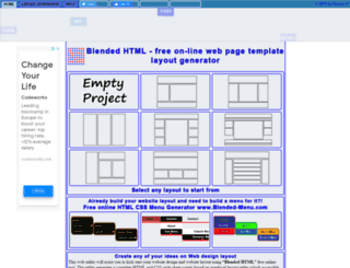 blended-html.com screenshot