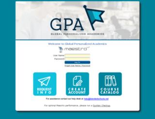 blendedschools.maestrosis.com screenshot
