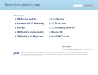 blender-tutorial.com screenshot