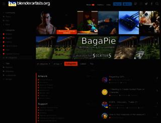 blenderartists.org screenshot