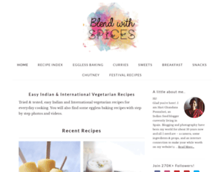 blendwithspices.com screenshot