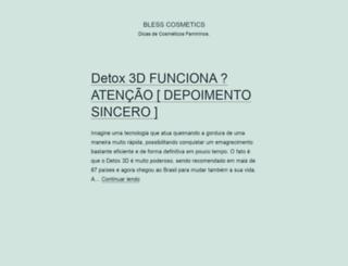 blesscosmetics.com.br screenshot