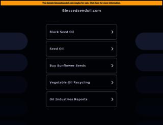 blessedseedoil.com screenshot