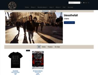 blessthefall.merchnow.com screenshot