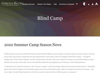 blindcamps.org screenshot
