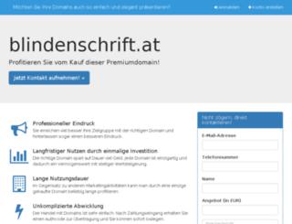 blindenschrift.at screenshot