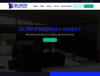 blinds-factorydirect.co.nz screenshot