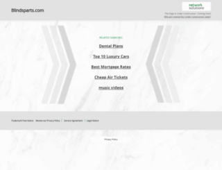 blindsparts.com screenshot