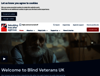 blindveterans.org.uk screenshot