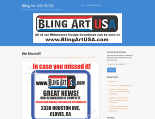blingartusa.wordpress.com screenshot