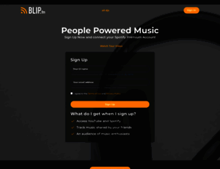 blip.fm screenshot