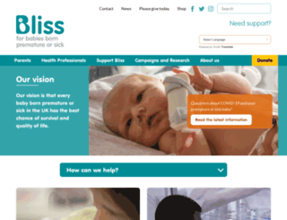 bliss.org.uk screenshot
