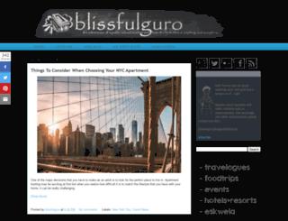 blissfulguro.com screenshot