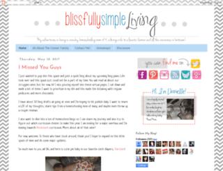blissfullysimpleliving.blogspot.com screenshot