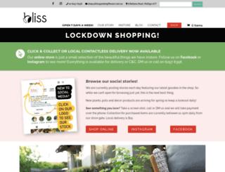 blissgardengiftware.com.au screenshot
