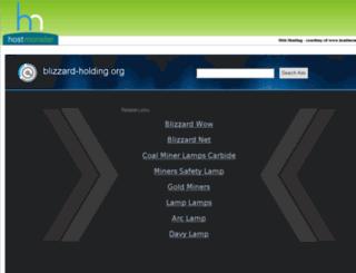 blizzard-holding.org screenshot