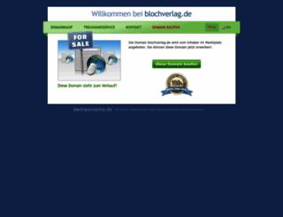 blochverlag.de screenshot