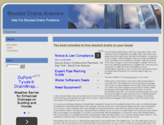 blocked-drains.org screenshot