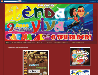 blocolendavivaoficial.blogspot.com.br screenshot