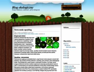 blog-ekologiczny.blogspot.com screenshot