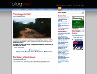 blog-well.com screenshot