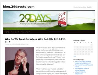 blog.29daysto.com screenshot