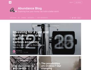 blog.abundancegeneration.com screenshot
