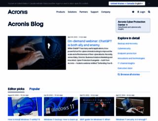 blog.acronis.com screenshot