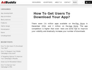 blog.adbuddiz.com screenshot