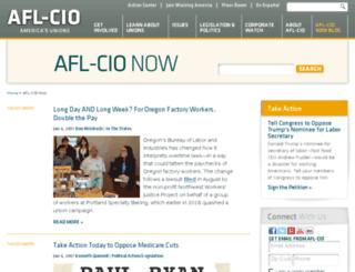 blog.aflcio.org screenshot