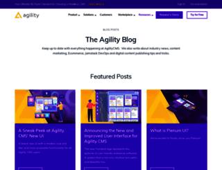 blog.agilitycms.com screenshot