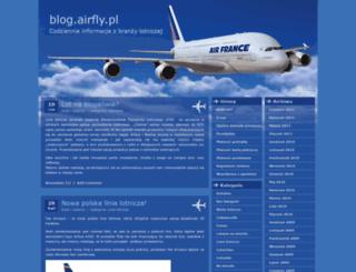 blog.airfly.pl screenshot