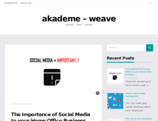 blog.akademe.in screenshot