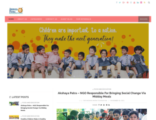 blog.akshayapatra.org screenshot
