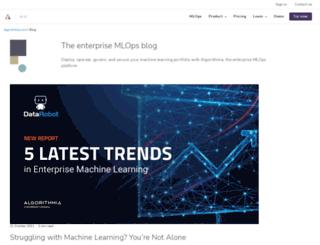 blog.algorithmia.com screenshot
