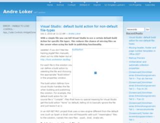 blog.andreloker.de screenshot