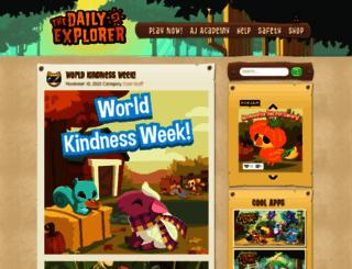 blog.animaljam.com screenshot