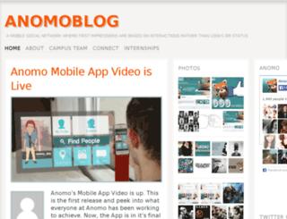 blog.anomo.com screenshot