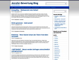 blog.anrufer-bewertung.de screenshot
