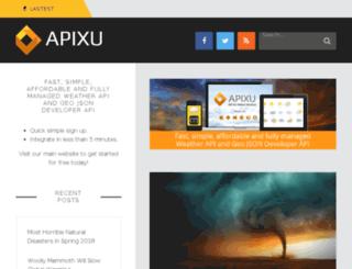 blog.apixu.com screenshot
